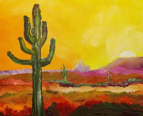 Wall Art - Painting - Saguoro Cactus by Rich Mason
