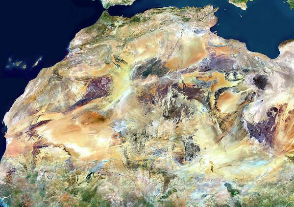 Sahara Photograph - Sahara Desert by Planetobserver/science Photo Library