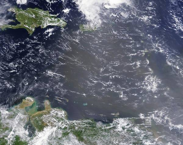 Trinidad Wall Art - Photograph - Saharan Dust Plume Over The Caribbean by Modis Rapid Response Team/gsfc/nasa/science Photo Library