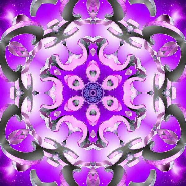 Digital Art - Sahasrara Coagulation by Derek Gedney