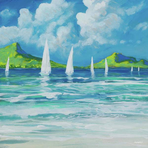 Sails Digital Art - Sail Away Beach I by Dan Meneely