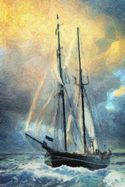 Wall Art - Painting - Sail Away To Avalon by Zapista Zapista