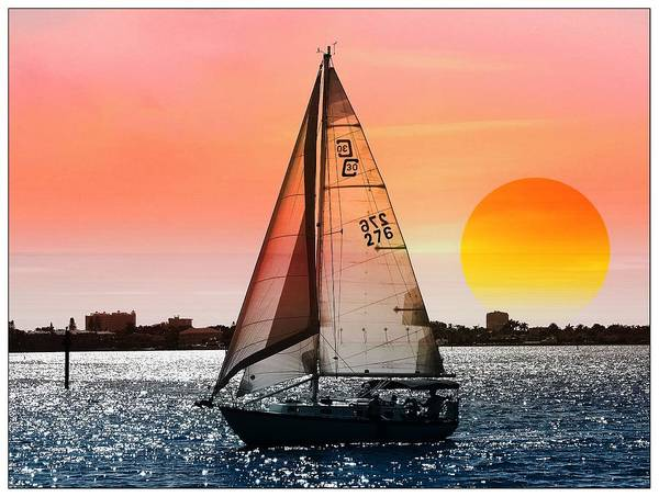 Promotion Photograph - Sail Away With Me by Athala Carole Bruckner