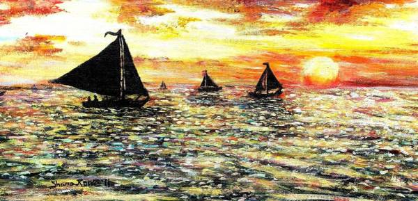 Impressionistic Sailboats Painting - Sail Away With Me by Shana Rowe Jackson