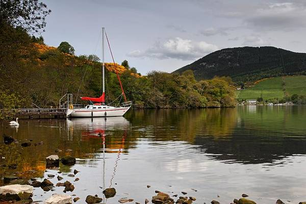 Photograph - Sail Boat On Loch Ness by Mike Farslow