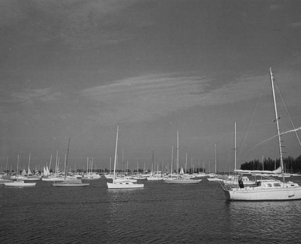 Far Away Wall Art - Photograph - Sail Boats by Retro Images Archive