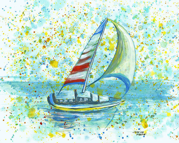 Painting - Sail On Maui by Darice Machel McGuire