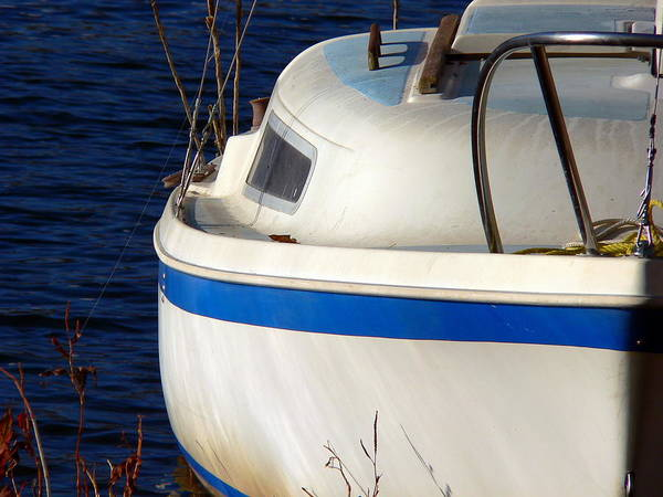 Photograph - Sailboat At Anchor by Jeff Lowe