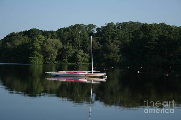 Encounter Bay Photograph - Sailboat At Great Pond by John Turek