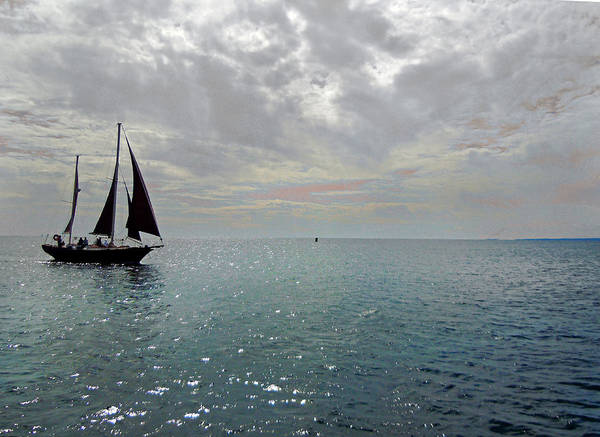 Photograph - Sailboat At Sea  by Nancy Griswold