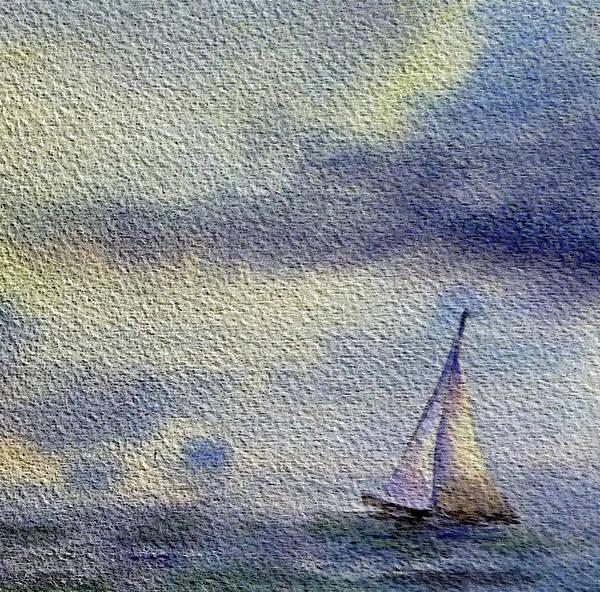 Painting - Sailboat At The Sea by Irina Sztukowski