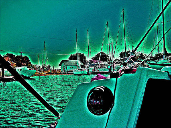 Digital Art - Sailboat Friendly by Joseph Coulombe