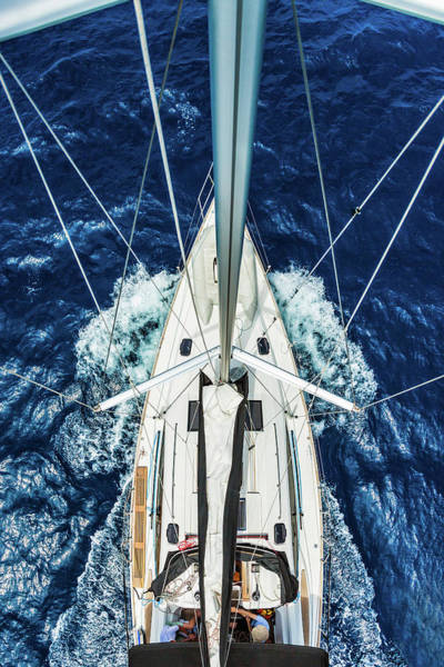 Nautical Photograph - Sailboat From Above by Mbbirdy