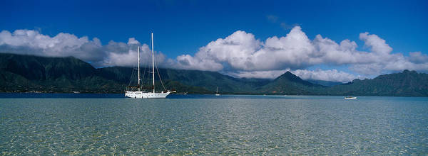Anchor Photograph - Sailboat In A Bay, Kaneohe Bay, Oahu by Panoramic Images