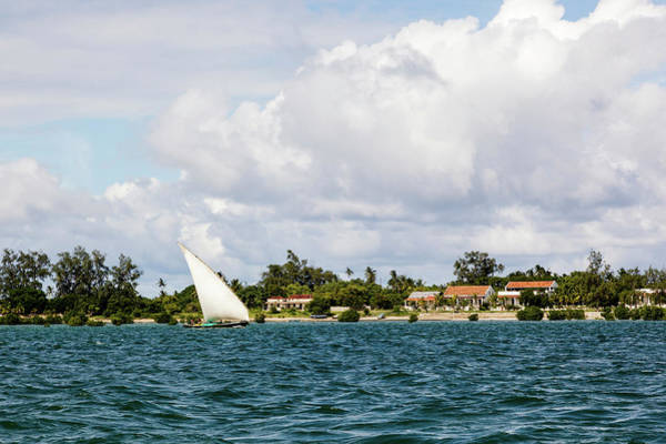 Sailboat Photograph - Sailboat In Choppy Waters, Ibo Island by Danita Delimont