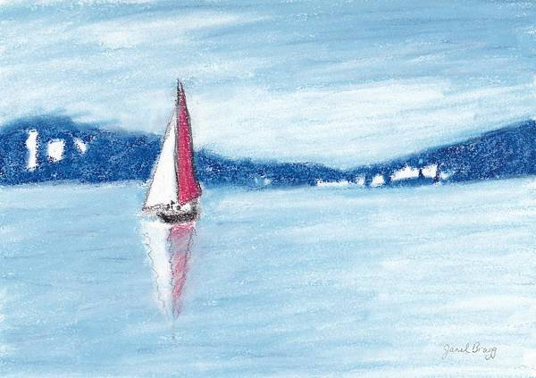 Port Townsend Painting - Sailboat In Port Townsend Bay by Janel Bragg