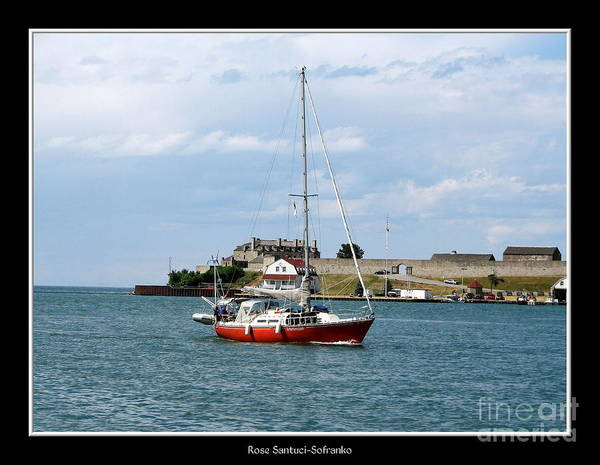 Photograph - Sailboat On Lake Ontario Near Old Fort Niagara 3 by Rose Santuci-Sofranko