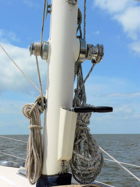 Photograph - Sailboat Parts 1 by Kathy K McClellan