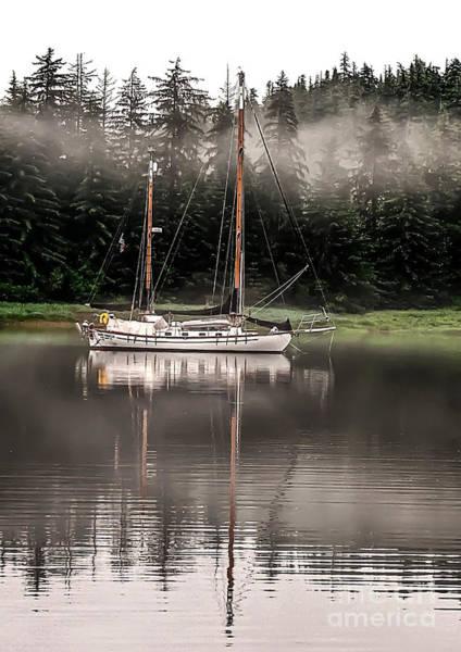 Aft Photograph - Sailboat Reflection by Robert Bales