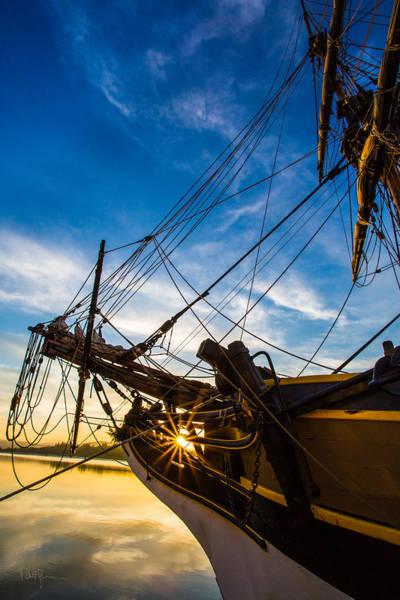 Wall Art - Photograph - Sailboat Sunrise by Robert Bynum