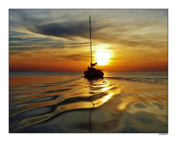 Standup Paddleboard Photograph - Sailboat Sunset Harbor by Mark Lemmon