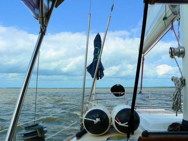 Photograph - Sailboat View Horizontal by Kathy K McClellan