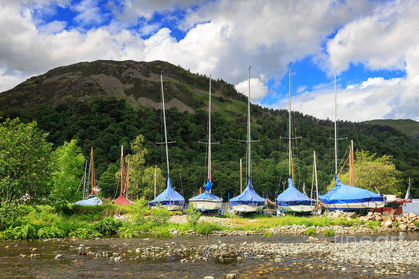 Glenridding Wall Art - Photograph - Sailboats At Glenridding In The Lake District by Louise Heusinkveld
