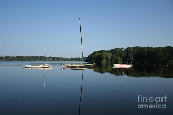 Encounter Bay Photograph - Sailboats At Great Pond by John Turek