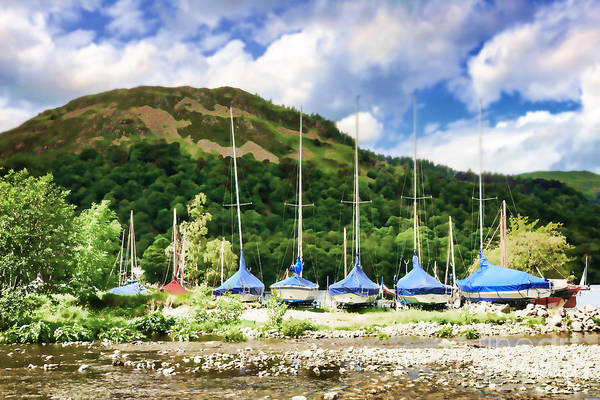 Glenridding Wall Art - Photograph - Sailboats Covered And Beached At Glenridding by Louise Heusinkveld