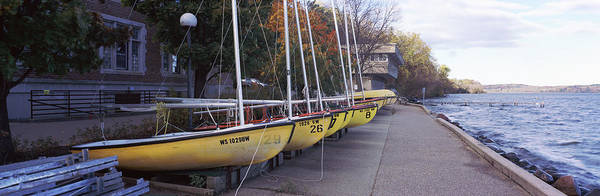 Wall Art - Photograph - Sailboats In A Row, University by Panoramic Images