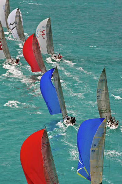Miami-dade Photograph - Sailboats In Acura Miami Grand Prix by Panoramic Images