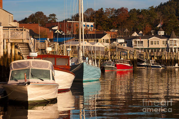 Photograph - Sailboats In Camden Harbor IIi by Clarence Holmes