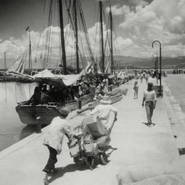 Group Of People Photograph - Sailboats In Haiti by Cecil Beaton