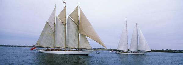 Narragansett Photograph - Sailboats In The Sea, Narragansett Bay by Panoramic Images
