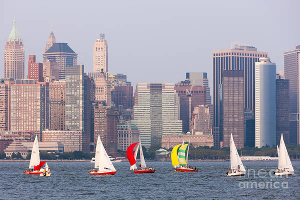 Photograph - Sailboats On The Hudson I by Clarence Holmes