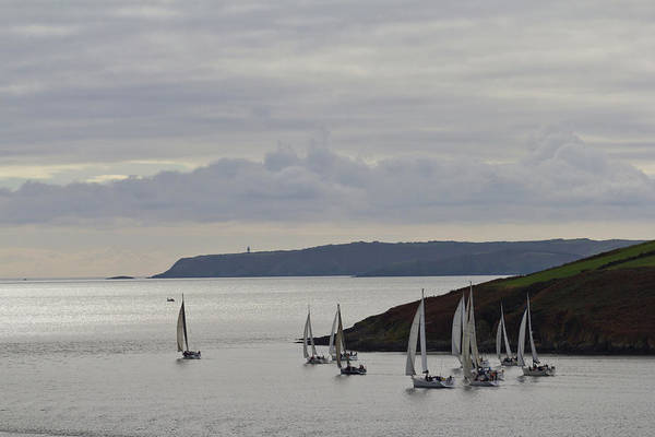 Sailboat Photograph - Sailboats Race Out Of Kinsale Harbour by Eric Sturdivant