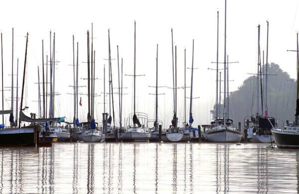 Sailboats Reflected Art Print