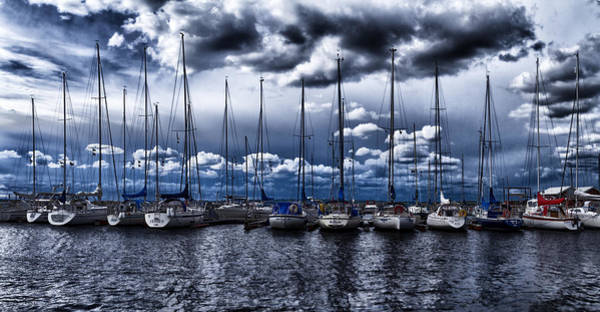 Rigging Photograph - Sailboats by Stelios Kleanthous