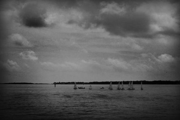 Photograph - Sailboats Under An Ominous Sky by Kelly Hazel