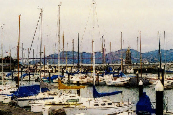 Photograph - Sailboats Watercolor by Gary De Capua