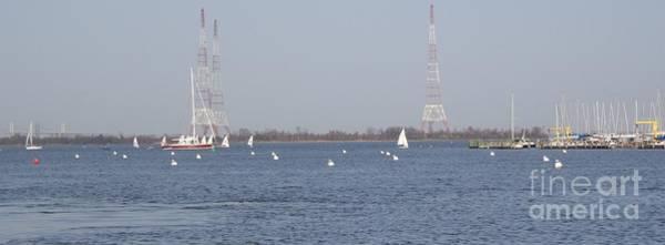 Photograph - Sailboats With Chesapeake Bay Bridge Beyond by Christina Verdgeline
