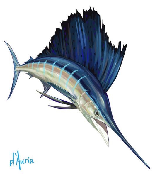 Sails Digital Art - Sailfish by Tom Dauria