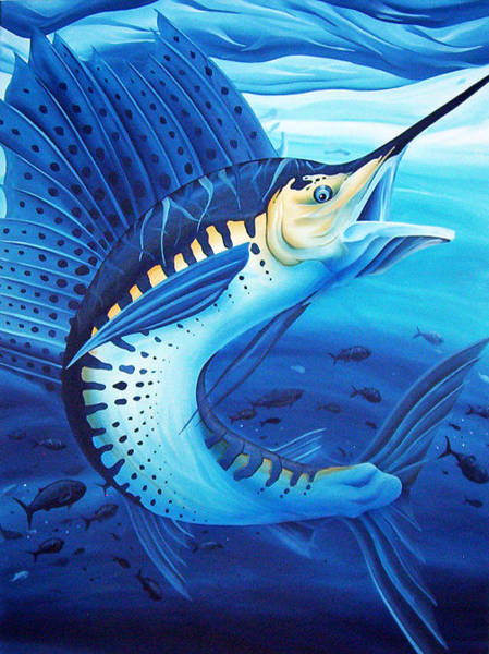 Painting - Sailfish by William Love