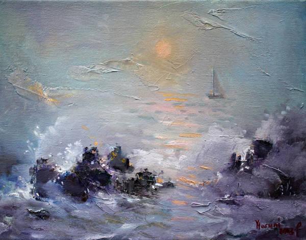 Sailing Wall Art - Painting - Sailing Back Home by Ylli Haruni