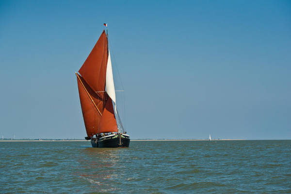 Photograph - Sailing Barge by Gary Eason