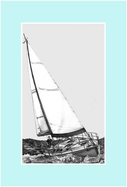 Schooner Digital Art - Sailing Freedom On A Reach by Jack Pumphrey