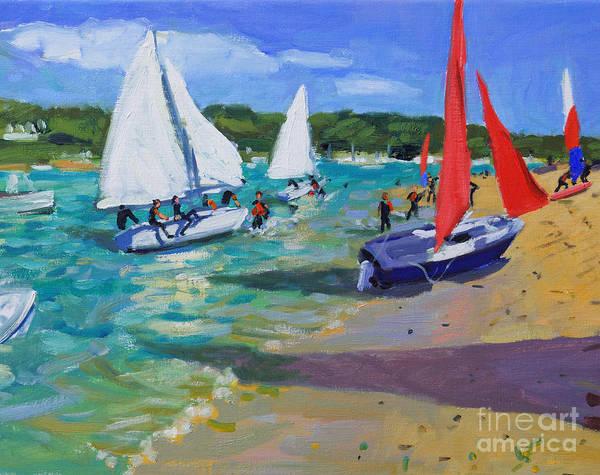 Macara Wall Art - Painting - Sailing Boats by Andrew Macara