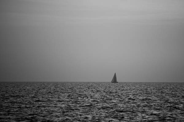 Photograph - Sailing Bw by Ivan Slosar