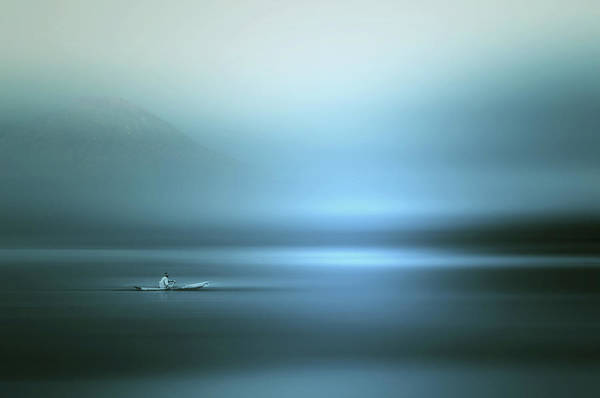 Blue Water Photograph - Sailing by Cie Shin