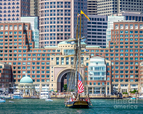 Photograph - Sailing From Rowes Wharf by Susan Cole Kelly